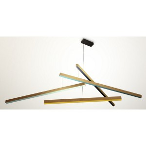 Suspension lampe led en bois presse citron tasso the