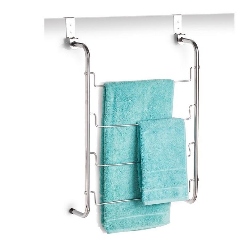 Porte serviette a suspendre sur porte metal zeller 18770 - Porte serviette sur porte ...