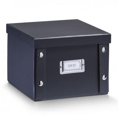 Boite en carton noir rangement dvd Zeller