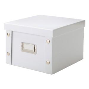 Boite carton blanc rangement dvd Zeller
