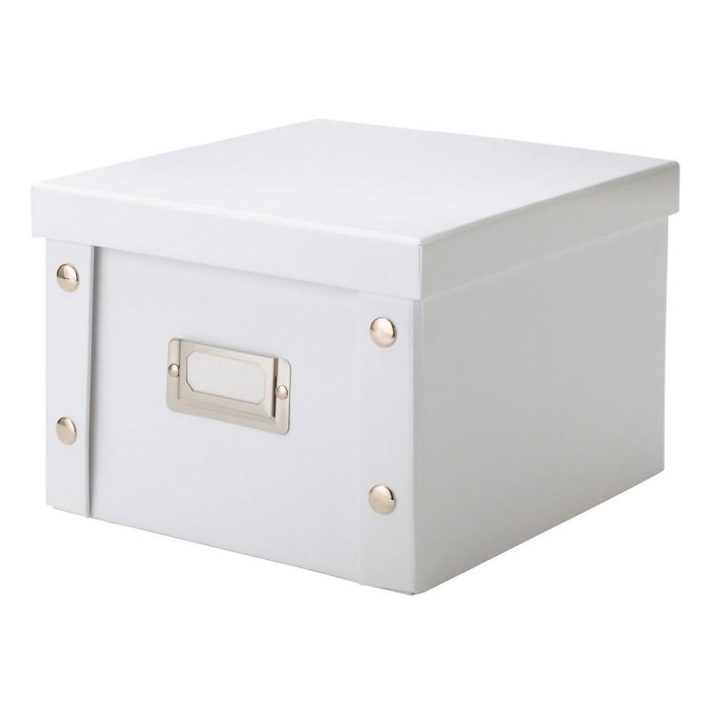 boite carton blanc rangement dvd zeller 17761. Black Bedroom Furniture Sets. Home Design Ideas