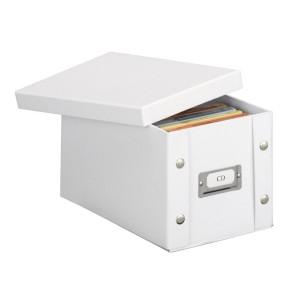 Boîte de rangement CD carton blanc Zeller