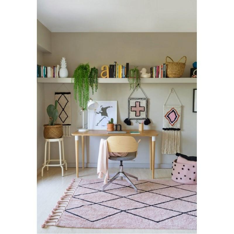 lorena canals bereber tapis lavable rose vintage c ber vintnu. Black Bedroom Furniture Sets. Home Design Ideas