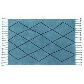 Tapis coton Lorena Canals Bereber bleu