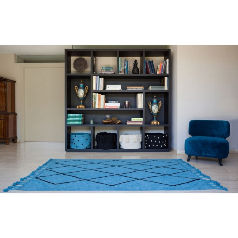 tapis lorena canals bereber bleu petrole 140 x 220 cm. Black Bedroom Furniture Sets. Home Design Ideas