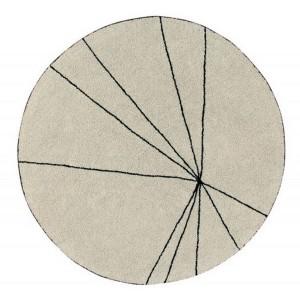 tapis rond coton beige lorena canals trace 160 cm