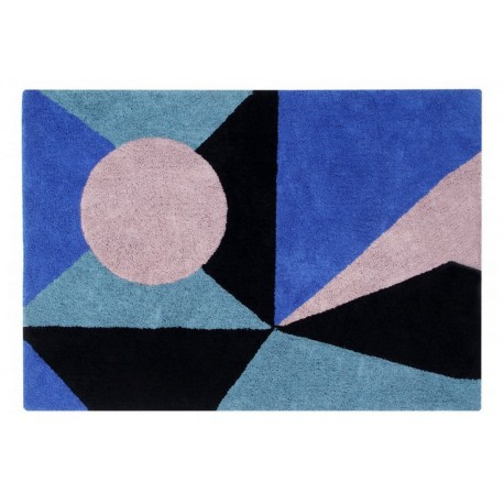 tapis design bleu lorena canals Geometric Frame 140 x 200 cm