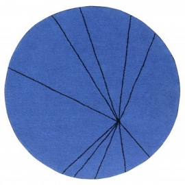 Tapis design rond bleu Lorena Canals Trace 160 cm