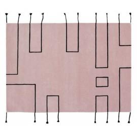 Tapis design laine Lorena Canals Nordic Lines vintage rose 170 x 240 cm