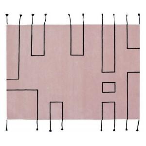 tapis design en laine rose lorena canals Nordic Lines vintage nude 170 x 240 cm