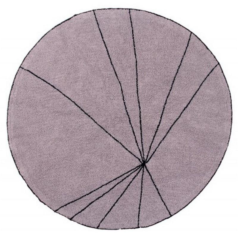 tapis rond lorena canals trace bois de rose 160 cm. Black Bedroom Furniture Sets. Home Design Ideas