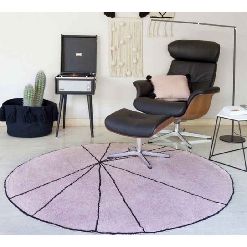 tapis rond lorena canals trace bois de rose 160 cm kdesign. Black Bedroom Furniture Sets. Home Design Ideas