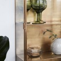 Vitrine murale métal laiton et verre House Doctor Cabinet