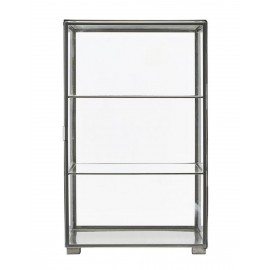 Vitrine en verre et zinc House Doctor Cabinet