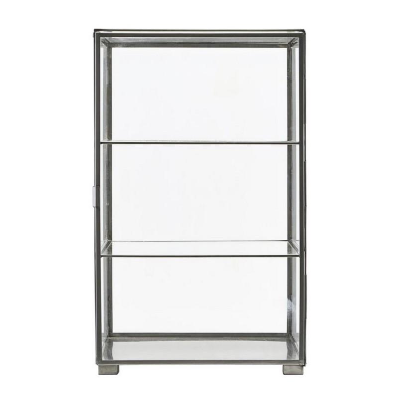 vitrine murale en verre et metal zinc house doctor cabinet. Black Bedroom Furniture Sets. Home Design Ideas