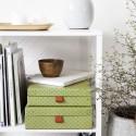 Boîtes de rangement décoratives House Doctor Fan vert