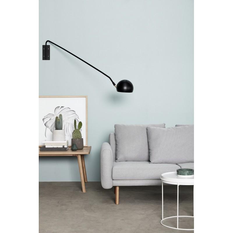 applique murale bras long metal noir laiton hubsch 370412. Black Bedroom Furniture Sets. Home Design Ideas