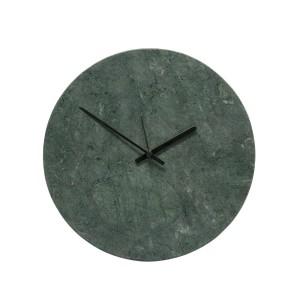 Horloge murale ronde marbre vert Hübsch