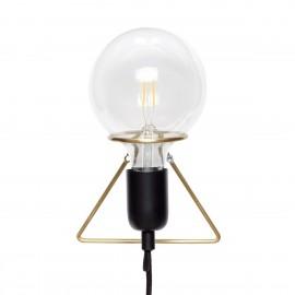 Applique murale ampoule triangle laiton Hübsch