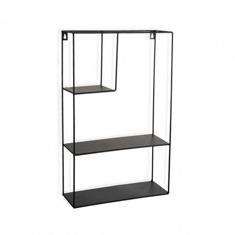 etagere murale rectangulaire metal noir versa 20850044. Black Bedroom Furniture Sets. Home Design Ideas