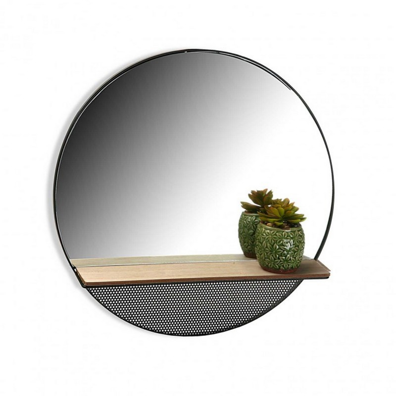 miroir mural rond etagere versa 20850046. Black Bedroom Furniture Sets. Home Design Ideas