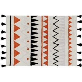 Tapis coton lavable Lorena Canals Azteca terracota 140 x 200 cm