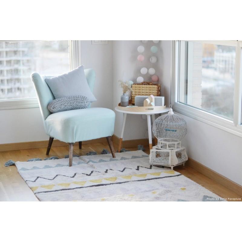 tapis lavable lorena canals azteca bleu pale 140 x 200 cm. Black Bedroom Furniture Sets. Home Design Ideas