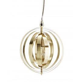 Suspension ronde métal doré Madam Stoltz 29 cm