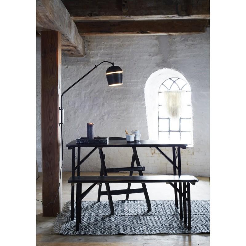 applique murale madam stoltz metal noir. Black Bedroom Furniture Sets. Home Design Ideas