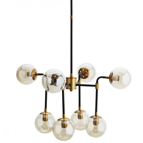 Lampe suspension Madam Stoltz laiton