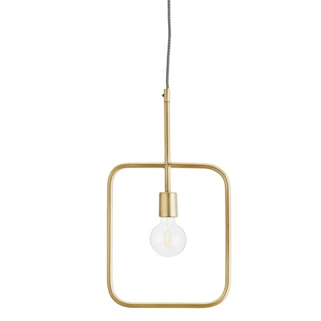 Lampe suspension laiton antique Madam Stoltz Geometric