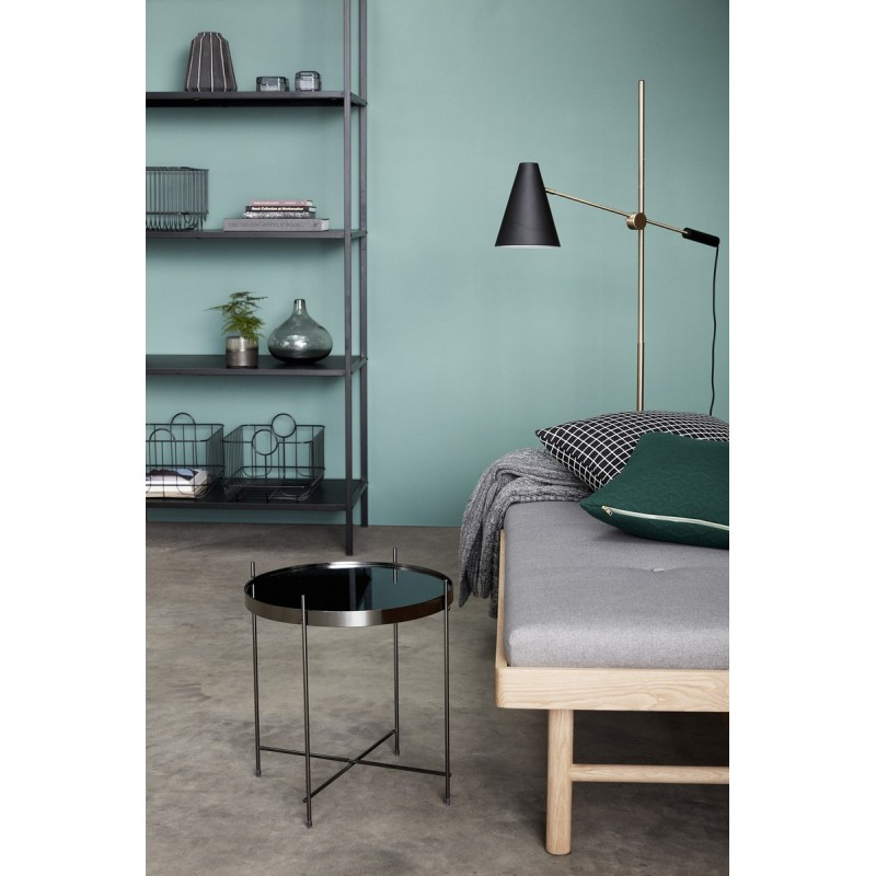 table basse ronde metal dore miroir hubsch 930402. Black Bedroom Furniture Sets. Home Design Ideas