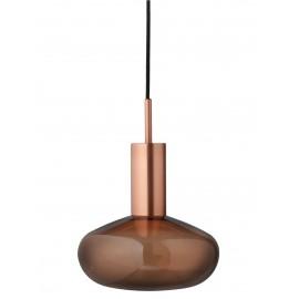 Suspension Gambi Eno Studio cuivre verre fumé bronze