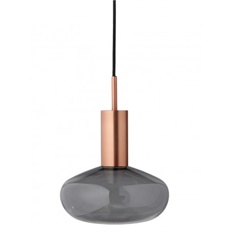 Suspension Eno Studio Gambi cuivre verre fumé gris