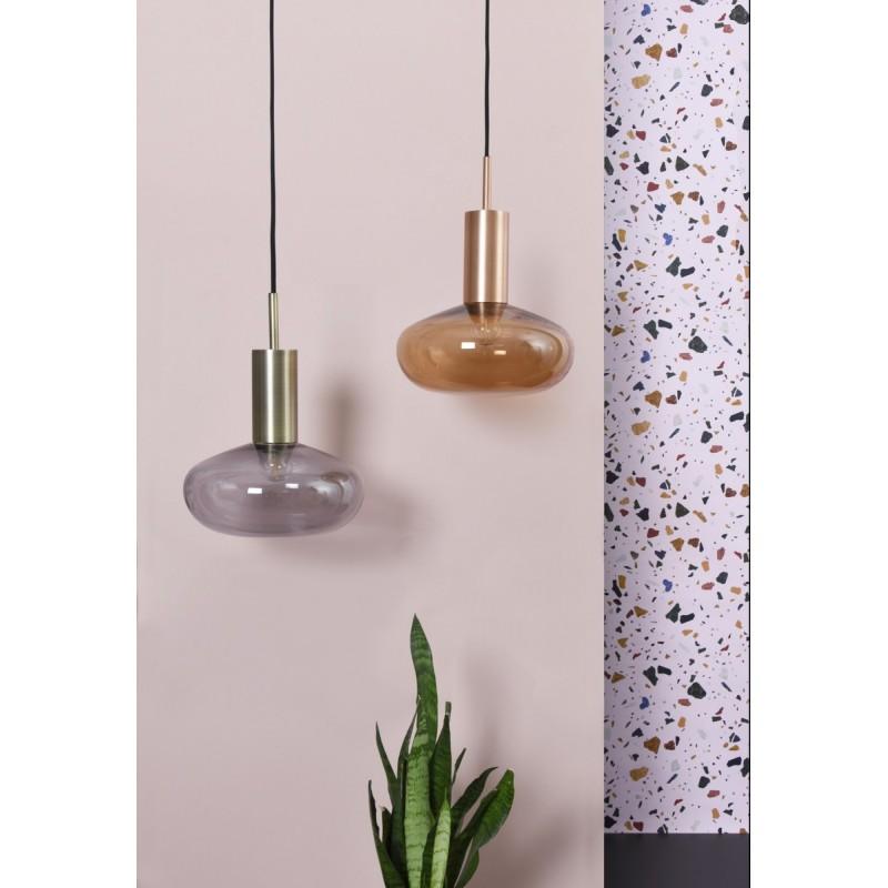 suspension design gambi eno studio cuivre verre clair eno01en006020. Black Bedroom Furniture Sets. Home Design Ideas