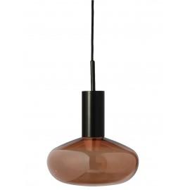 Suspension Eno Studio métal noir verre teinté bronze 25 cm