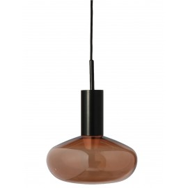 Suspension Eno Studio métal noir verre teinté bronze