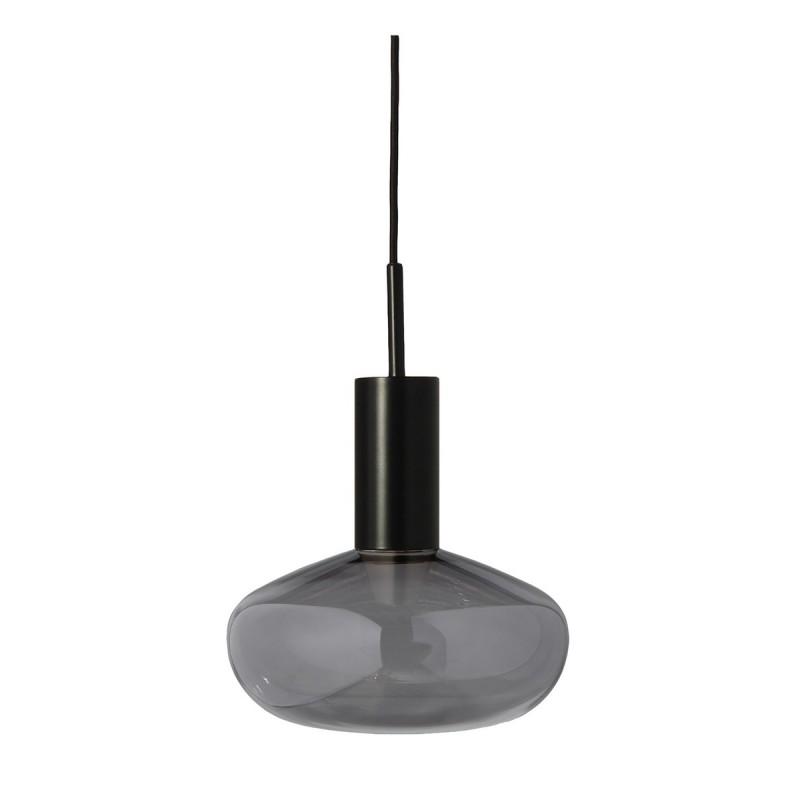 Lampe suspension Gambi Eno Studio verre teinté gris métal noir ...