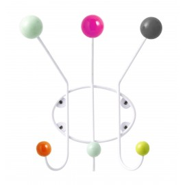 Porte-manteau mural boules multicolore Superliving Neon 3 patères