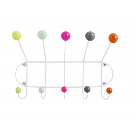 Porte-manteau boules multicolores Superliving 5 patères