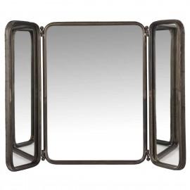 Miroir mural salle de bains vintage métal noir 2 battants IB Laursen