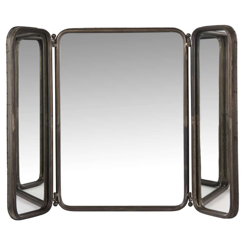 miroir mural salle de bains vintage metal 2 battants ib laursen 3130 25. Black Bedroom Furniture Sets. Home Design Ideas