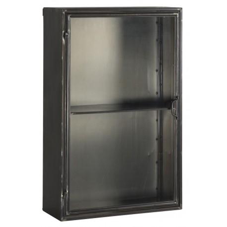 vitrine murale vintage industrielle metal noir ib laursen brooklyn 3135 25. Black Bedroom Furniture Sets. Home Design Ideas