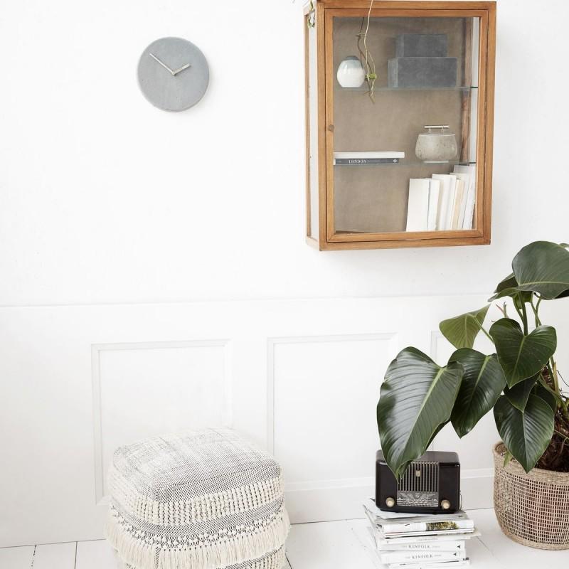 vitrine murale bois de chene et verre house doctor madi ae0310. Black Bedroom Furniture Sets. Home Design Ideas
