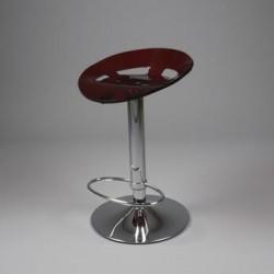 Tabouret de bar plexi rouge design KTRAC
