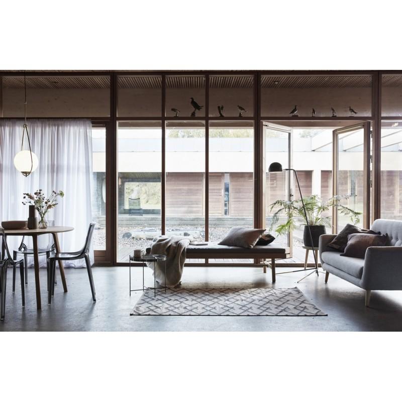 suspension art deco laiton boule blanche goutte hubsch 890408. Black Bedroom Furniture Sets. Home Design Ideas