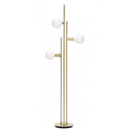 lampadaire art deco laiton metal dore hubsch 890502. Black Bedroom Furniture Sets. Home Design Ideas