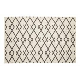 Tapis scandinave coton gris naturel Hubsch 120 x 180 cm