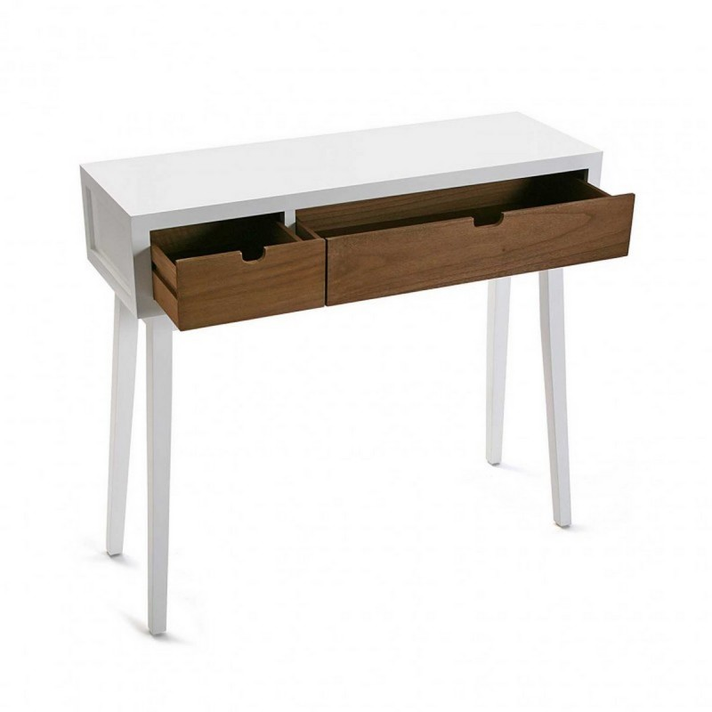 console d entree blanche bois 2 tiroirs versa najac. Black Bedroom Furniture Sets. Home Design Ideas