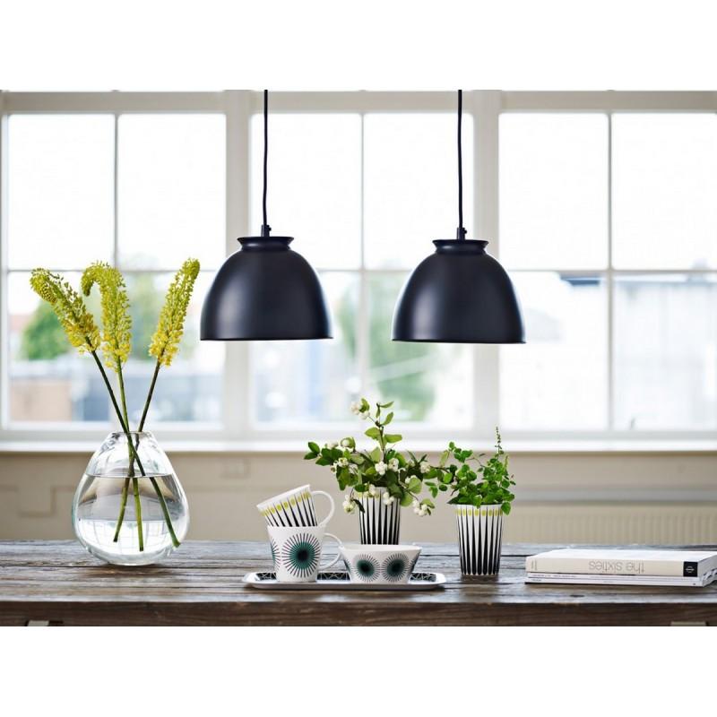 suspension design noire metal superliving bloom sl06211. Black Bedroom Furniture Sets. Home Design Ideas